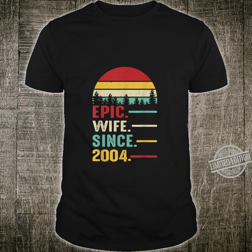 16th Wedding Anniversary for Her Epic Wife Since 2004 Shirt