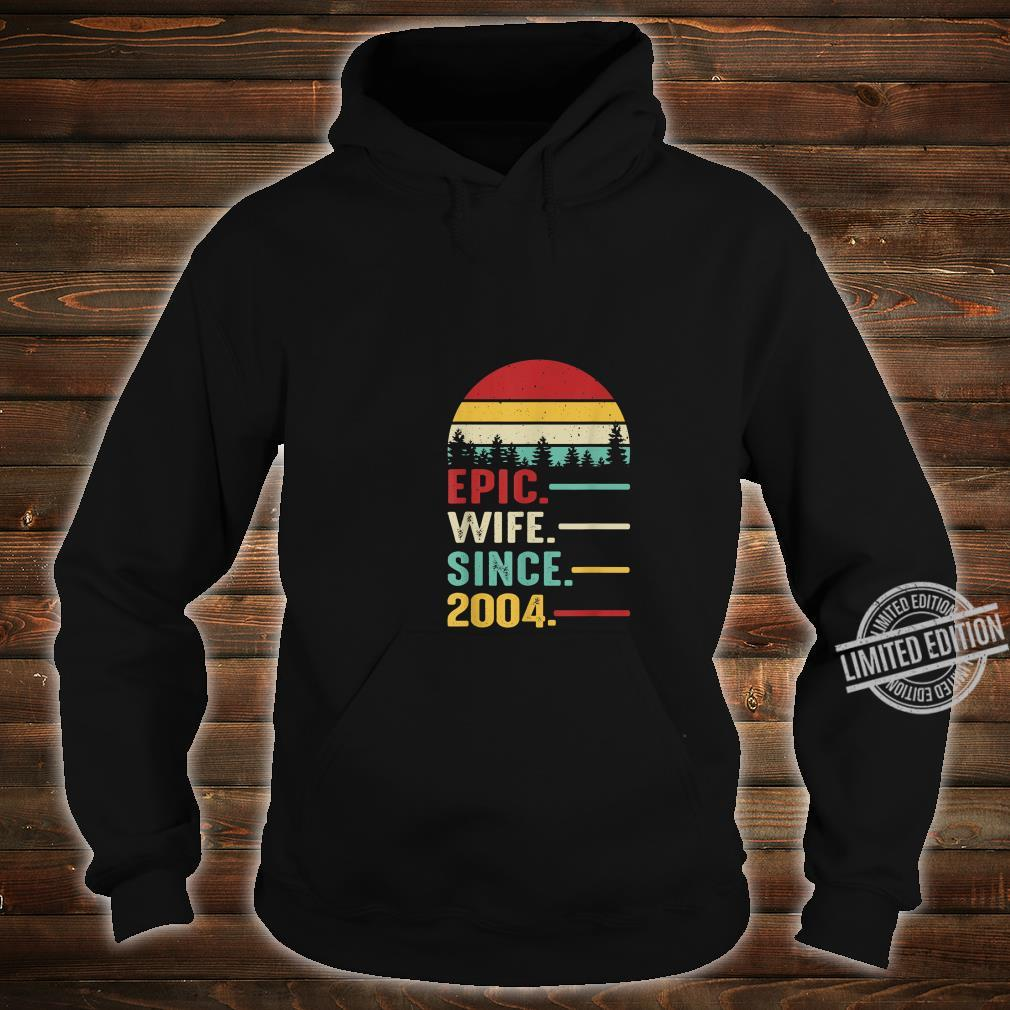 16th Wedding Anniversary for Her Epic Wife Since 2004 Shirt hoodie