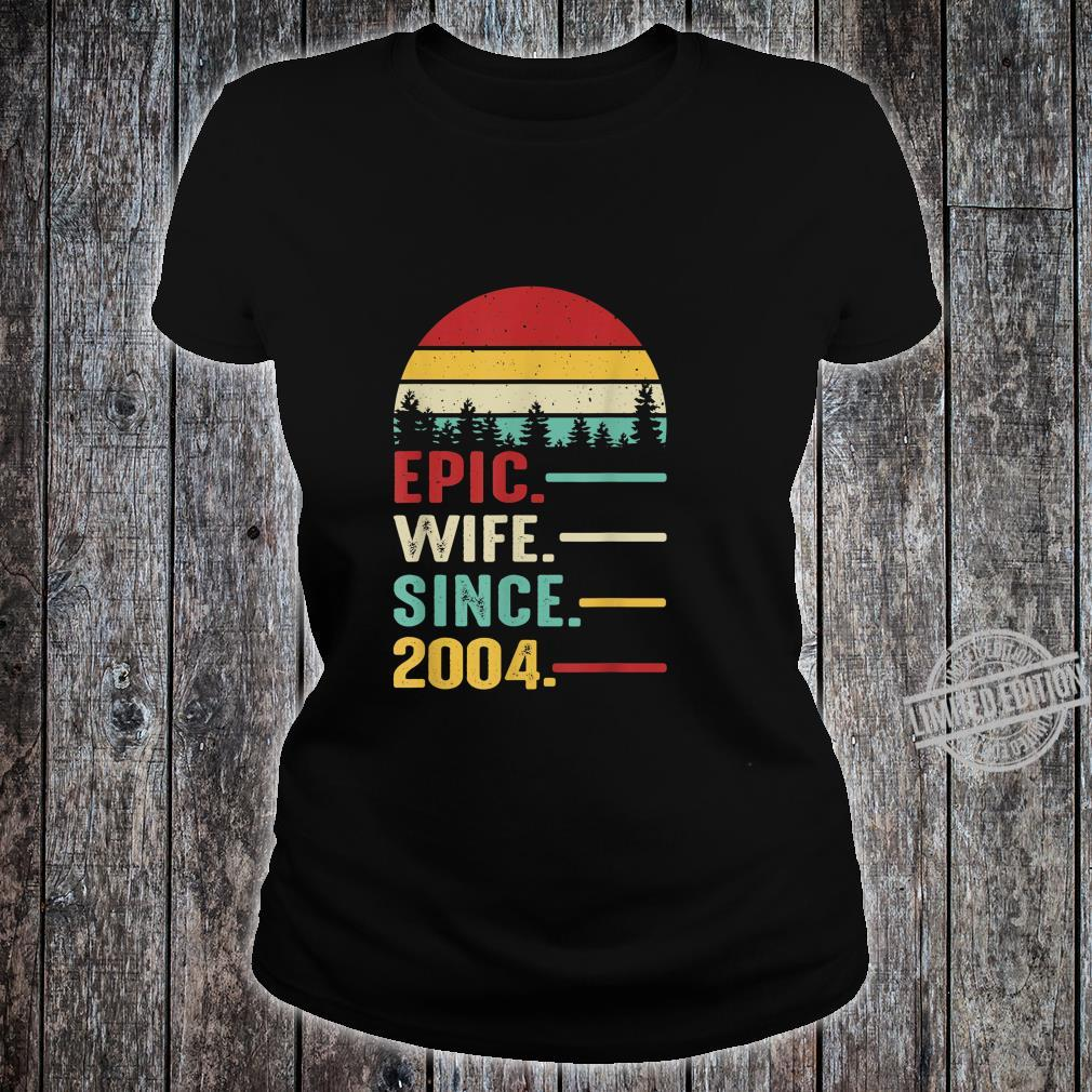 16th Wedding Anniversary for Her Epic Wife Since 2004 Shirt ladies tee