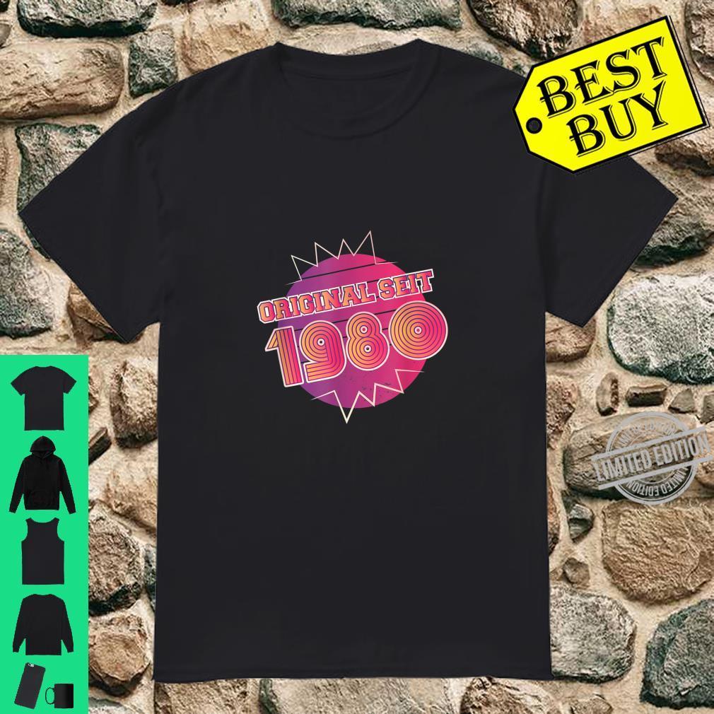 1980 Original seit 80´s Geburtstagsjahr Geschenk 80er Shirt