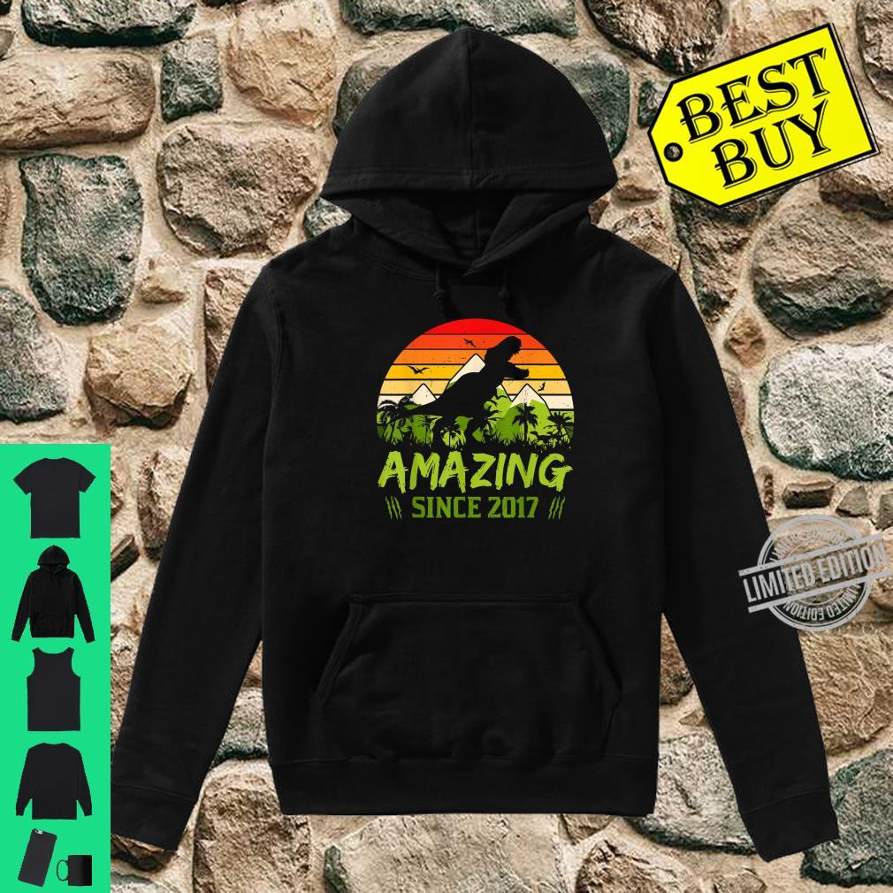 Amazing Since 2017 3rd Dinosaur Birthday 3 Year Old Shirt hoodie