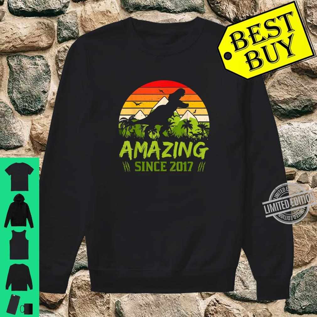 Amazing Since 2017 3rd Dinosaur Birthday 3 Year Old Shirt sweater