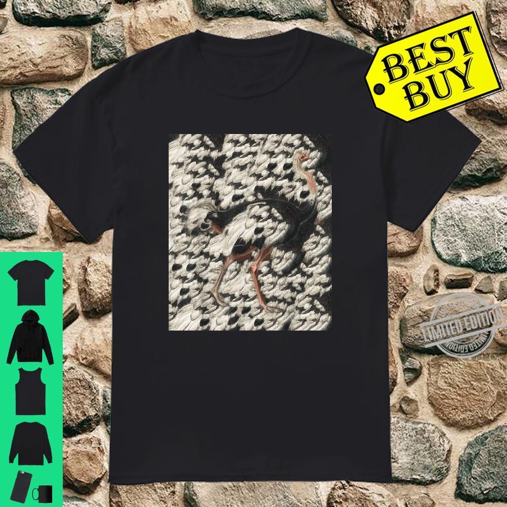 Art Ostrich Zoo Animal Ostrich Line Art Shirt