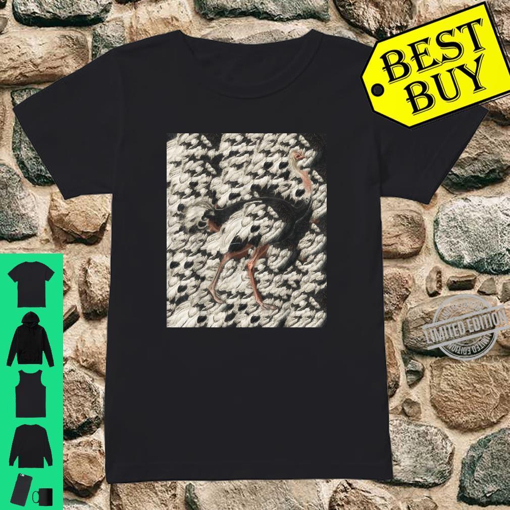 Art Ostrich Zoo Animal Ostrich Line Art Shirt ladies tee