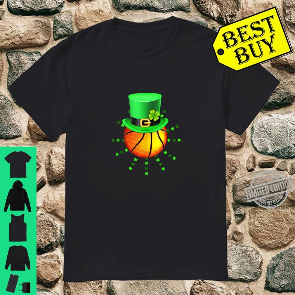 Basketball Ball Leprechaun St Patricks Day Boys Catcher Shirt
