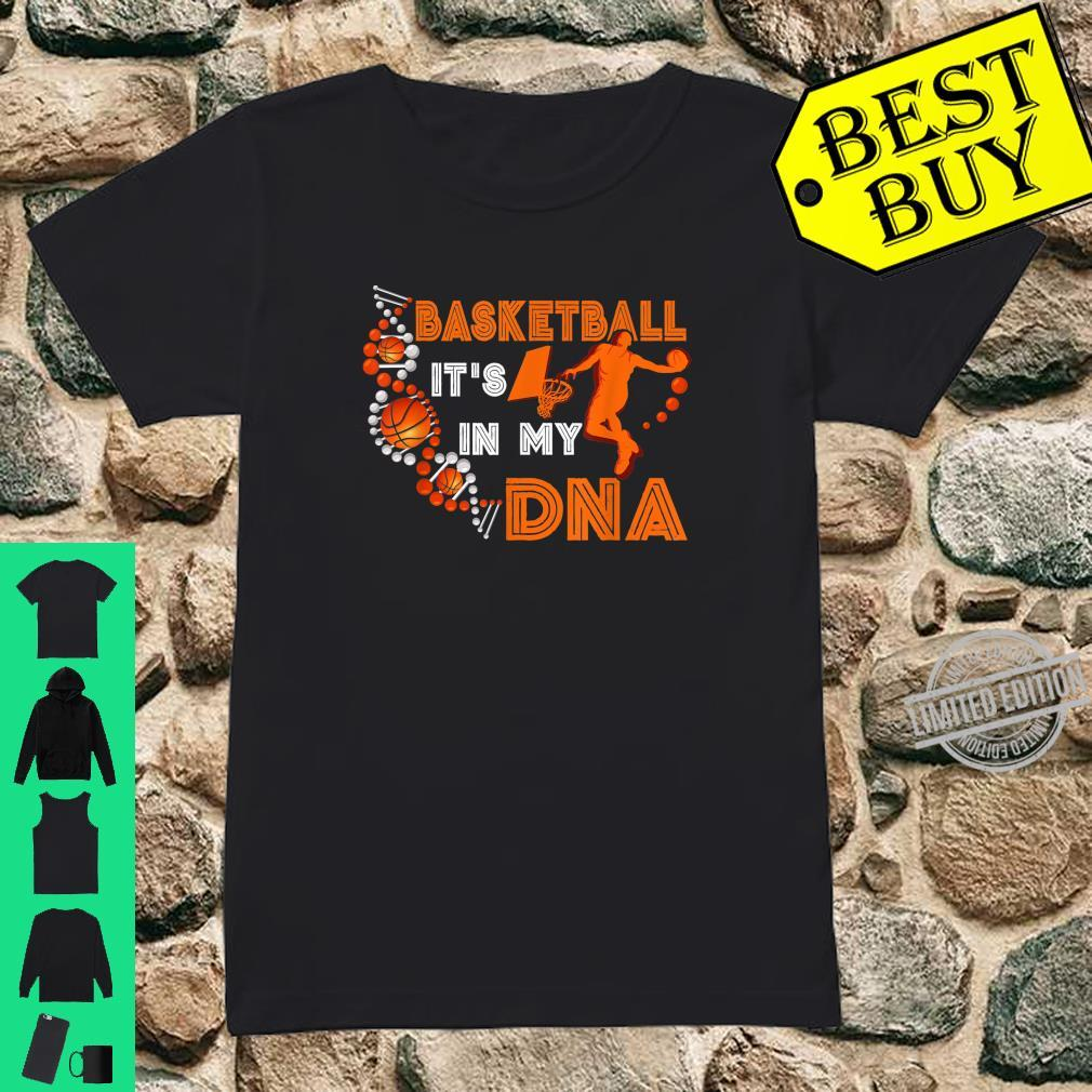 Basketball In DNA Player Coach Team Sportss Ball Shirt ladies tee