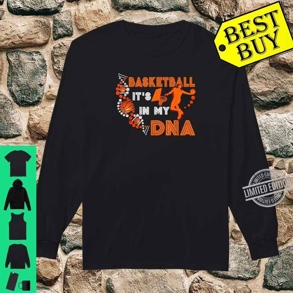 Basketball In DNA Player Coach Team Sportss Ball Shirt long sleeved