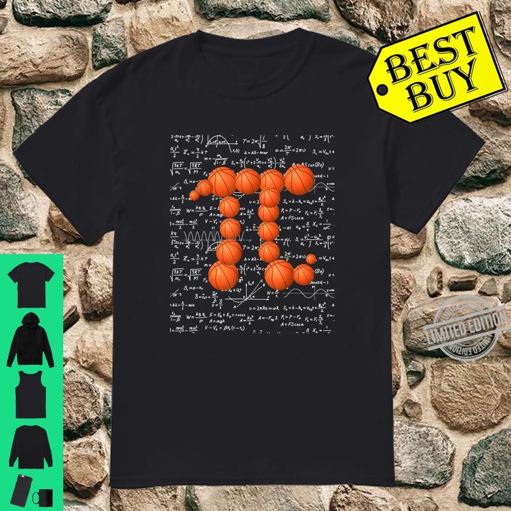 Basketball Pi Basketball Pi Day Math Nerd Shirt