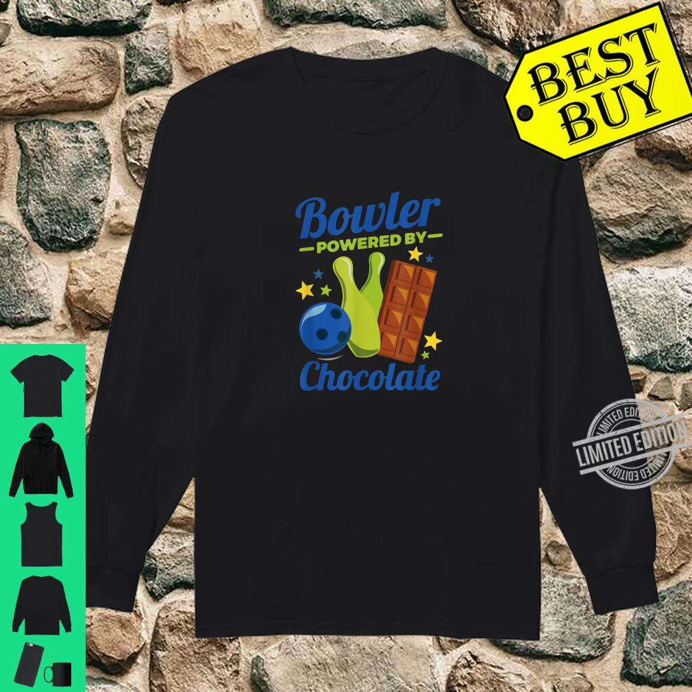 Bowling Novelty Bowler Powered By Chocolate Shirt long sleeved