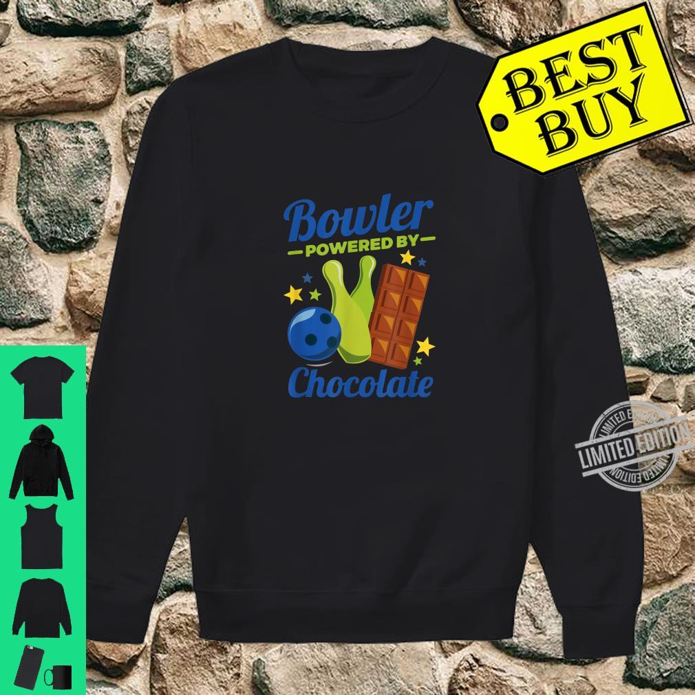 Bowling Novelty Bowler Powered By Chocolate Shirt sweater