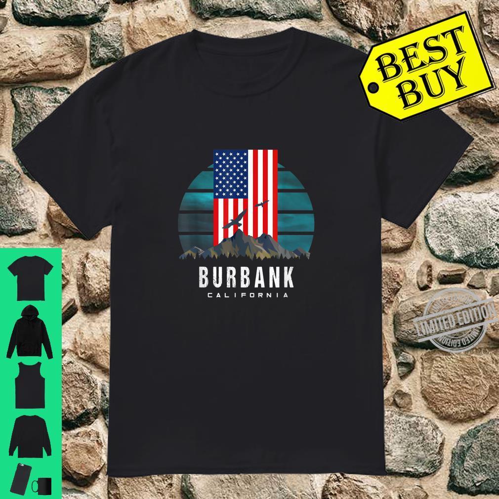 Burbank California US American Vintage Retro Mountain Shirt