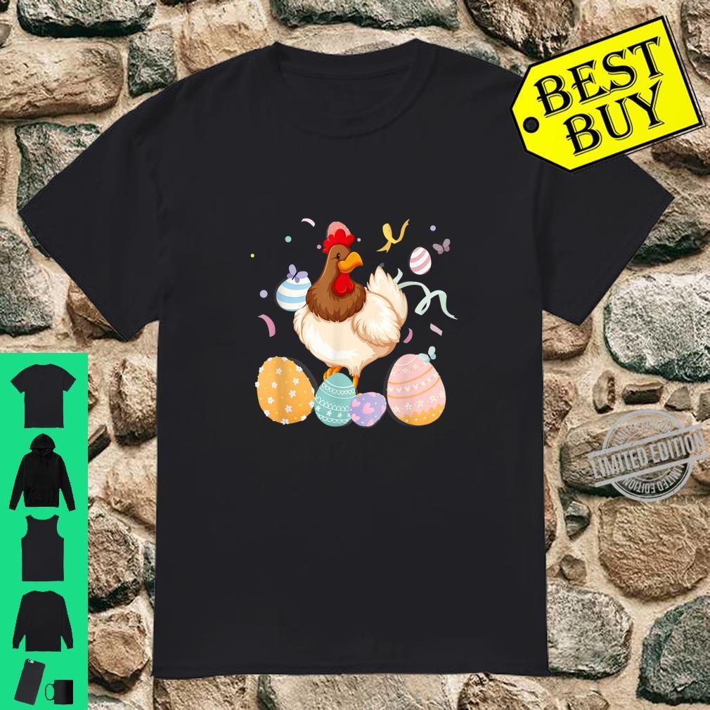 Chicken Easter Egg Bunny Ears Costume Rabbit Girls Shirt