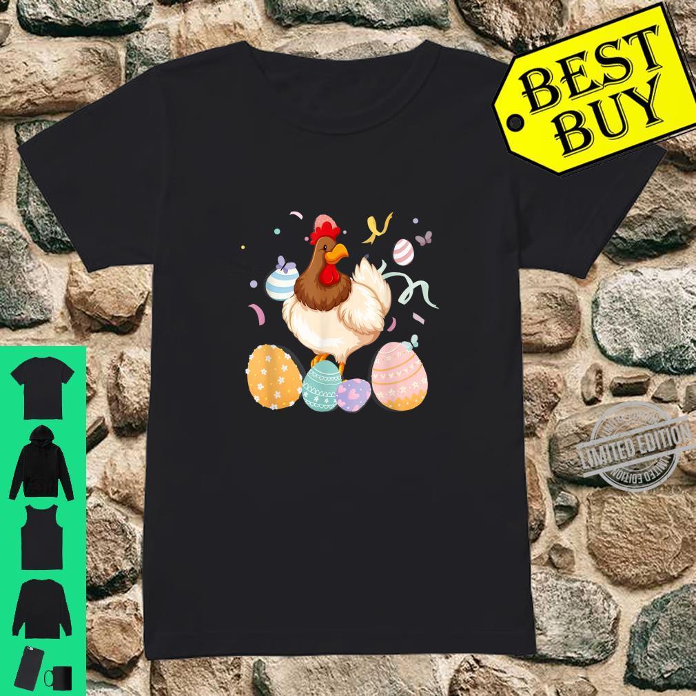 Chicken Easter Egg Bunny Ears Costume Rabbit Girls Shirt ladies tee