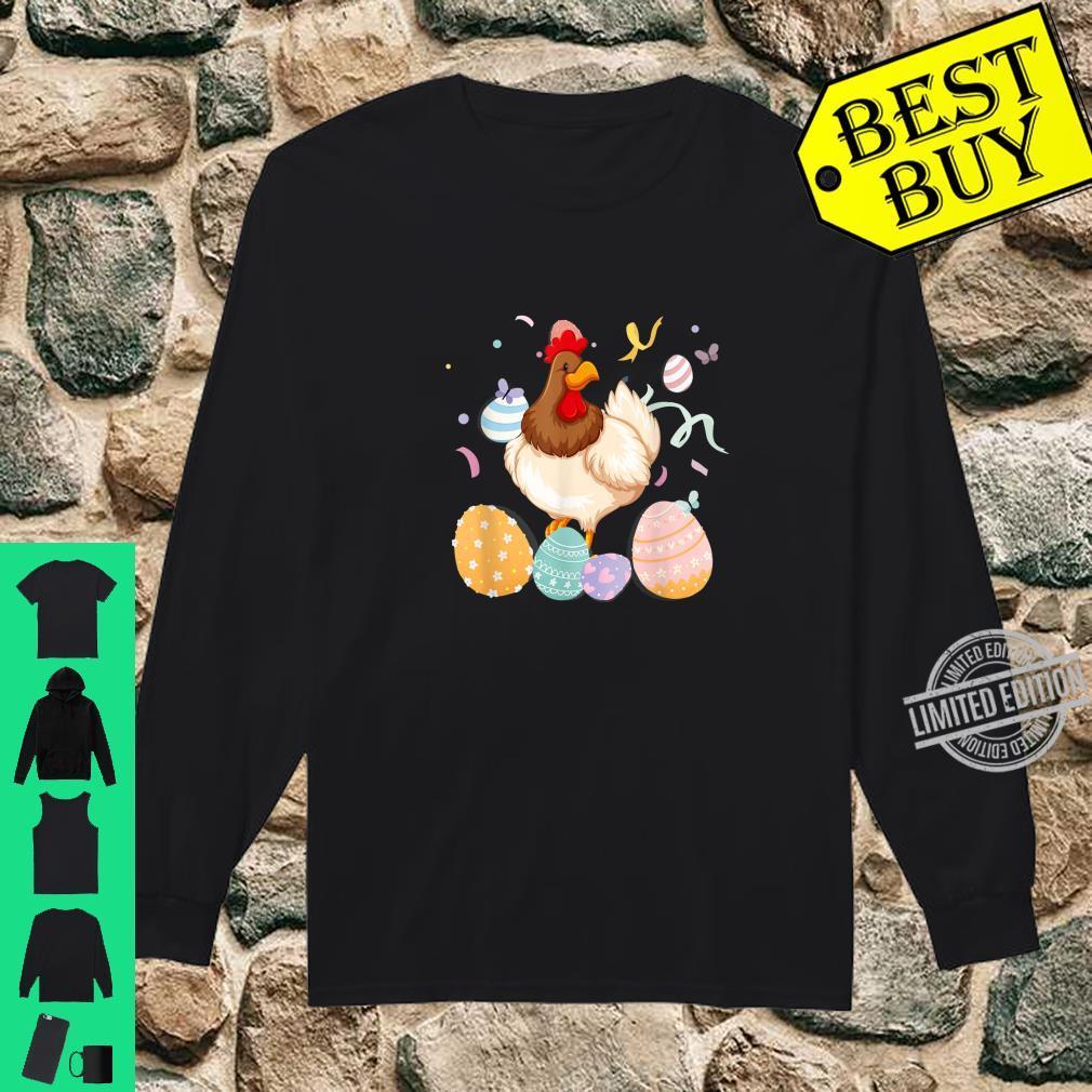 Chicken Easter Egg Bunny Ears Costume Rabbit Girls Shirt long sleeved