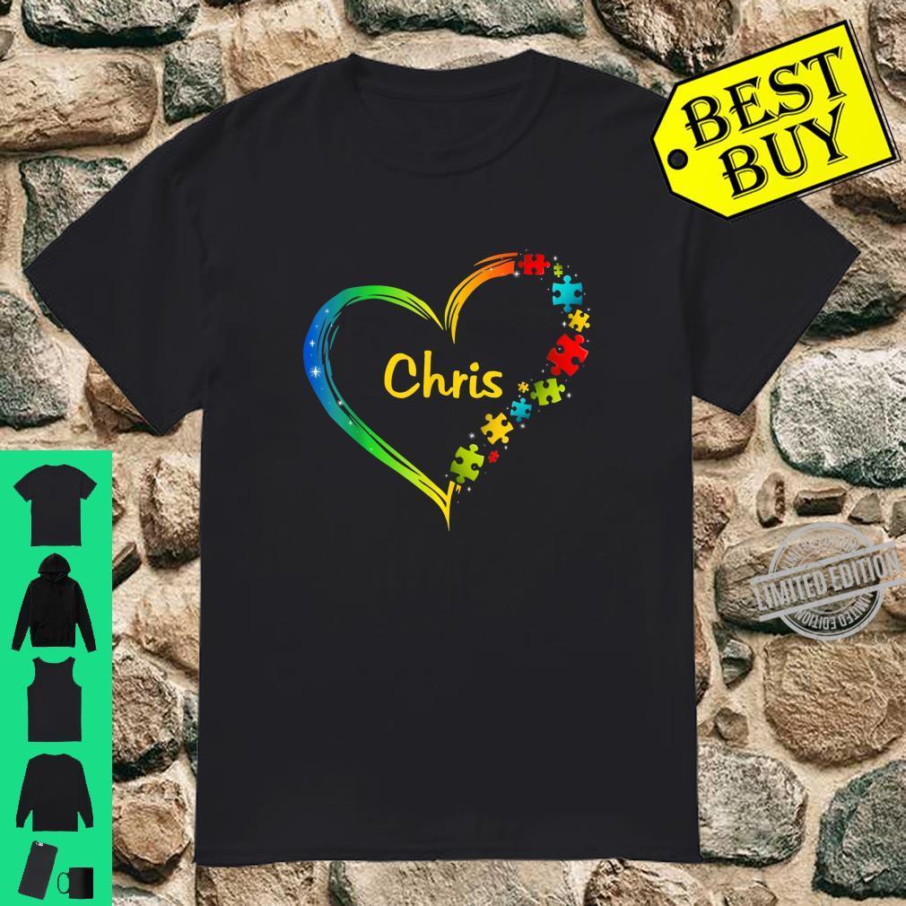 Chris autism awareness heart puzzle idea 2020 Shirt