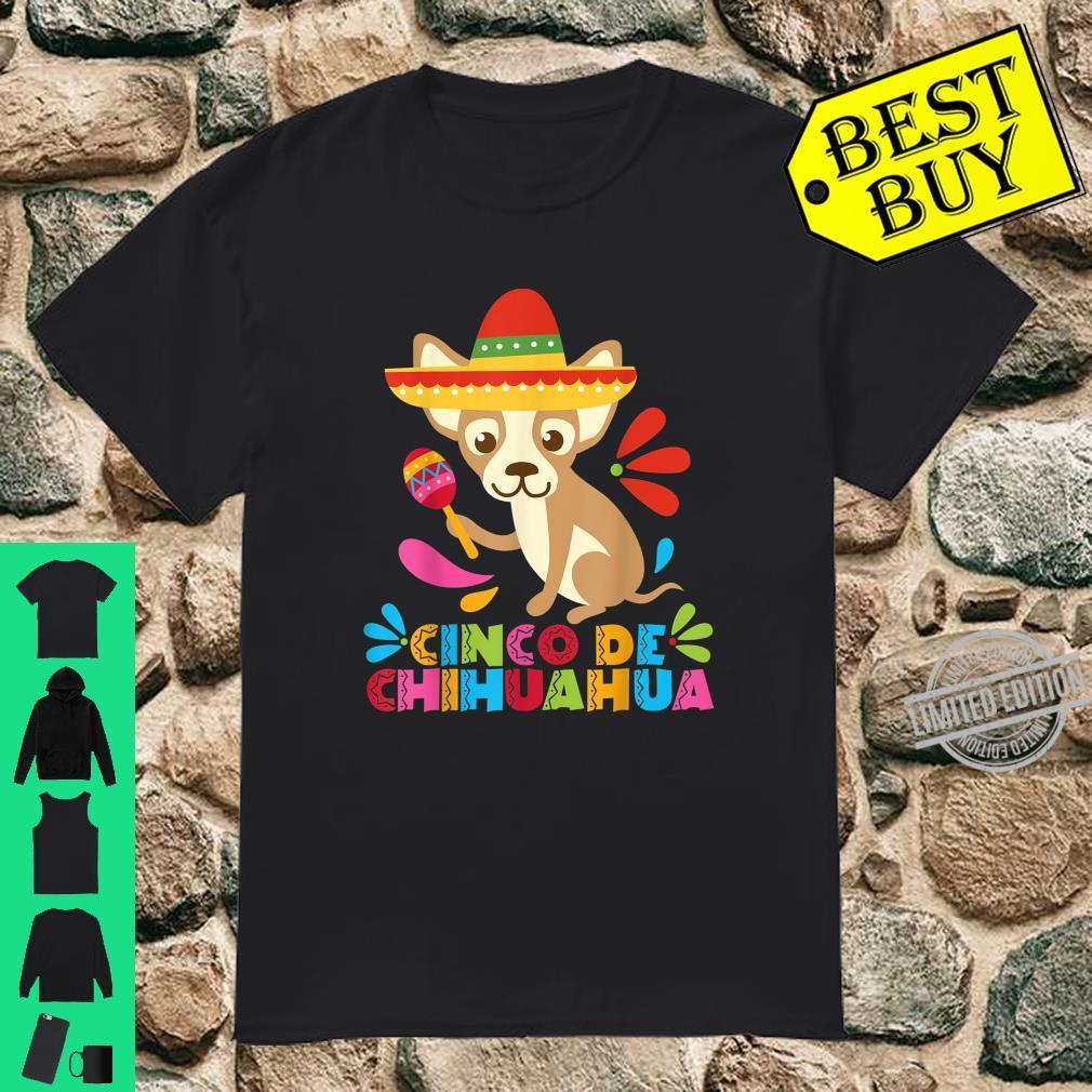 Cinco De Mayo Dog Shirt Mexican Chihuahua Fiesta Maracas Shirt