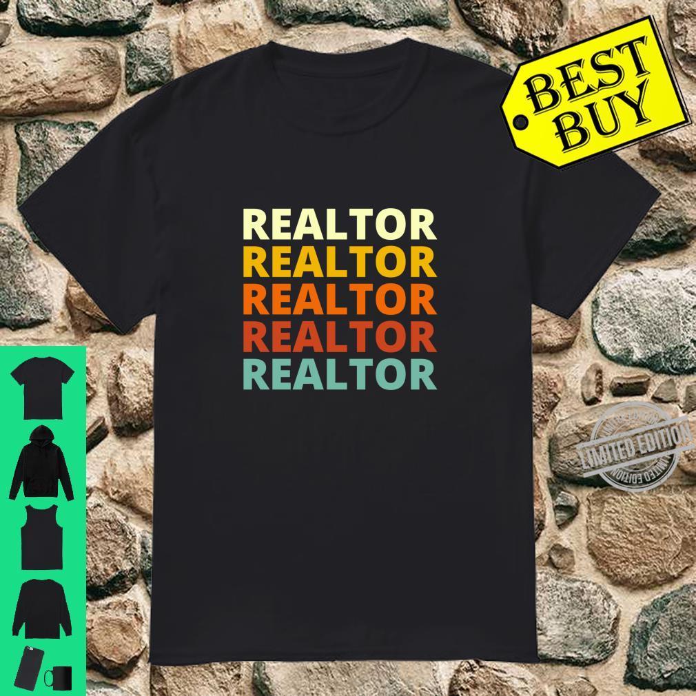 Cool Vintage Retro Color Realtor Shirt