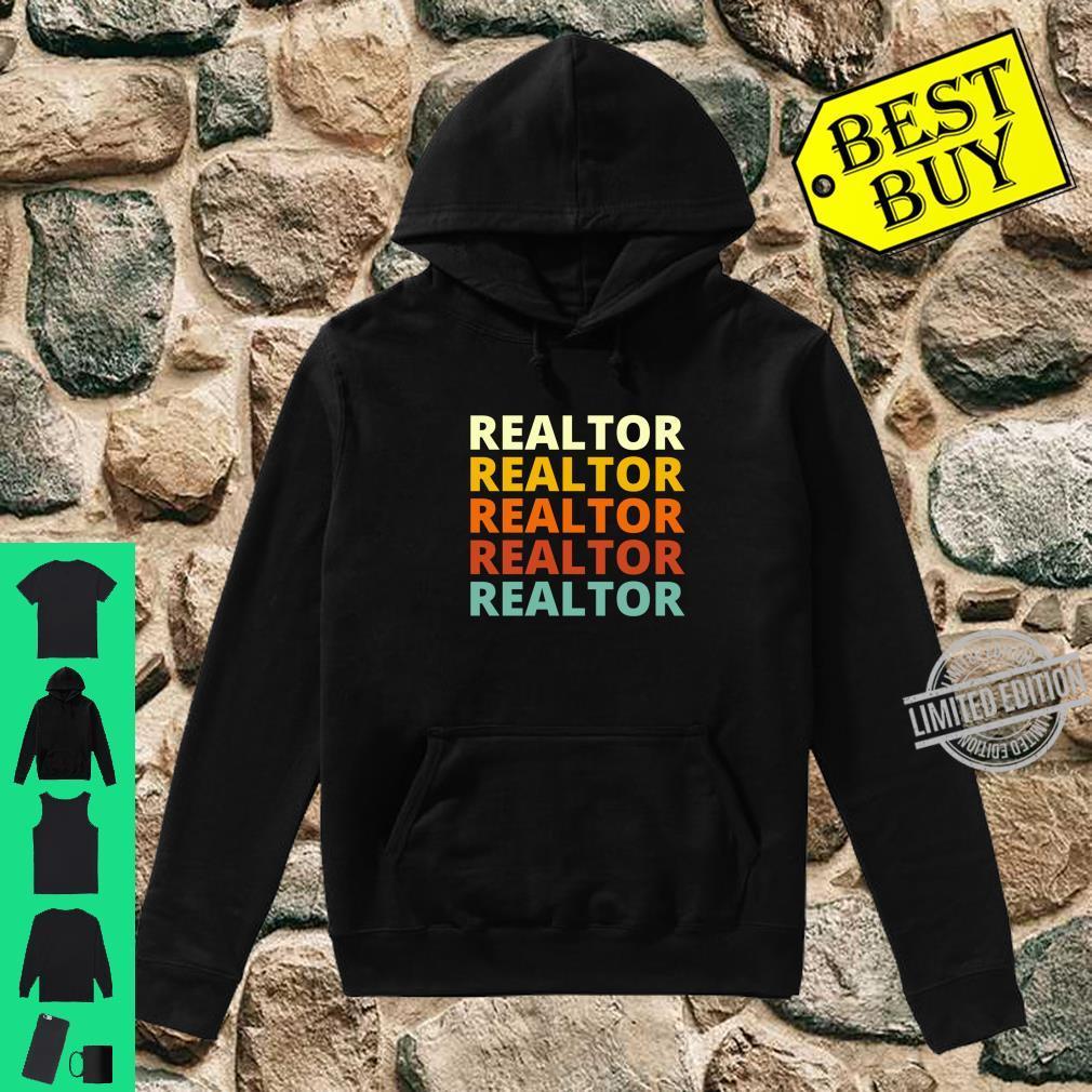 Cool Vintage Retro Color Realtor Shirt hoodie