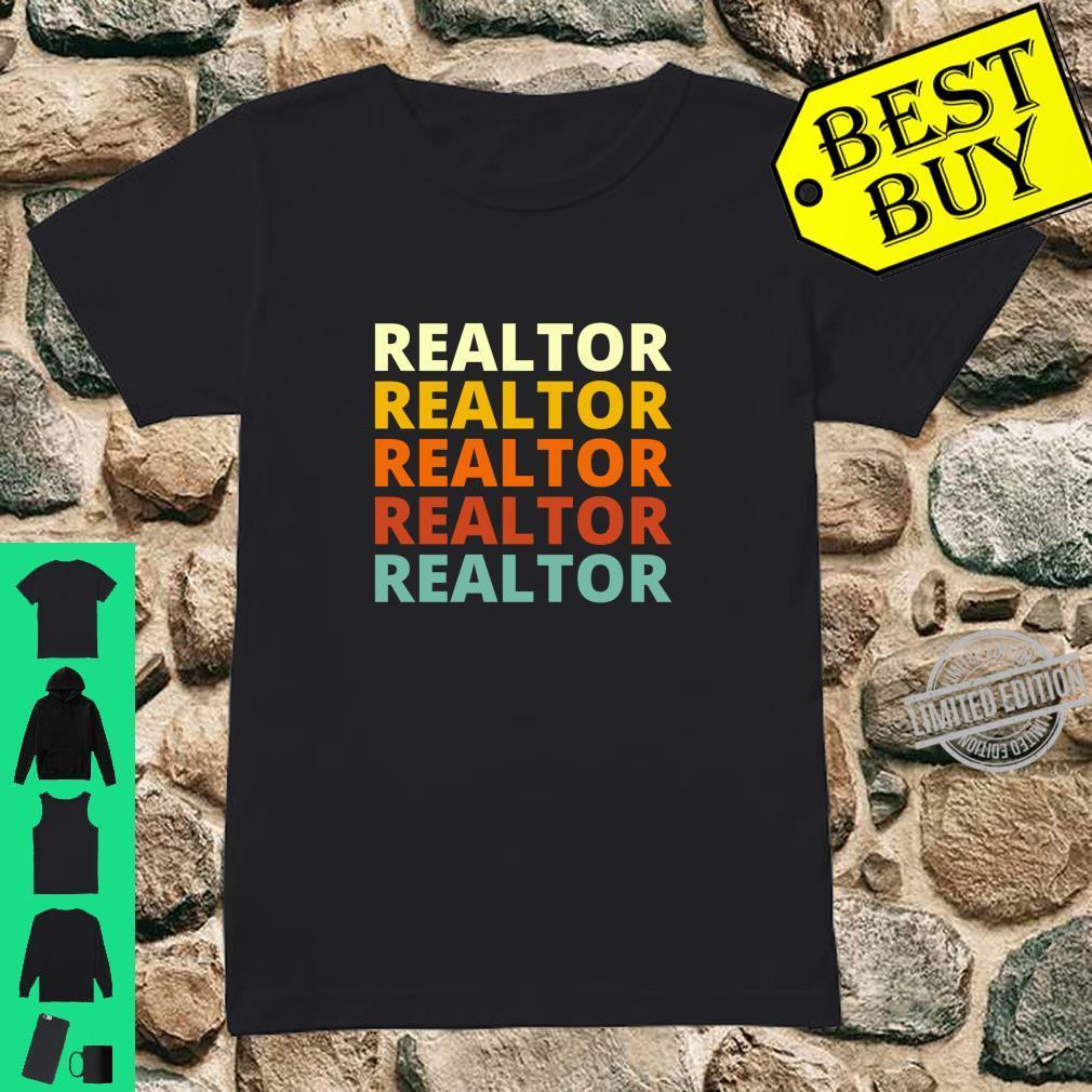 Cool Vintage Retro Color Realtor Shirt ladies tee