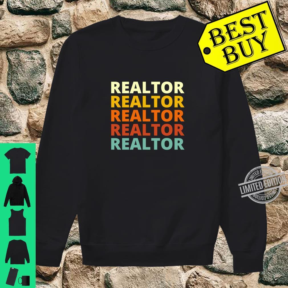 Cool Vintage Retro Color Realtor Shirt sweater