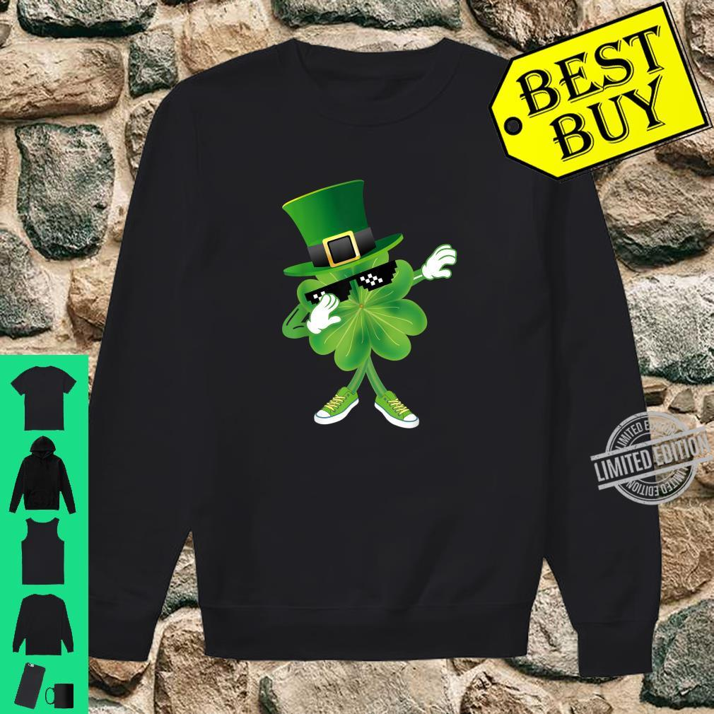 Dabbing Shamrock leprechaun hat Patrick's day Shirt sweater