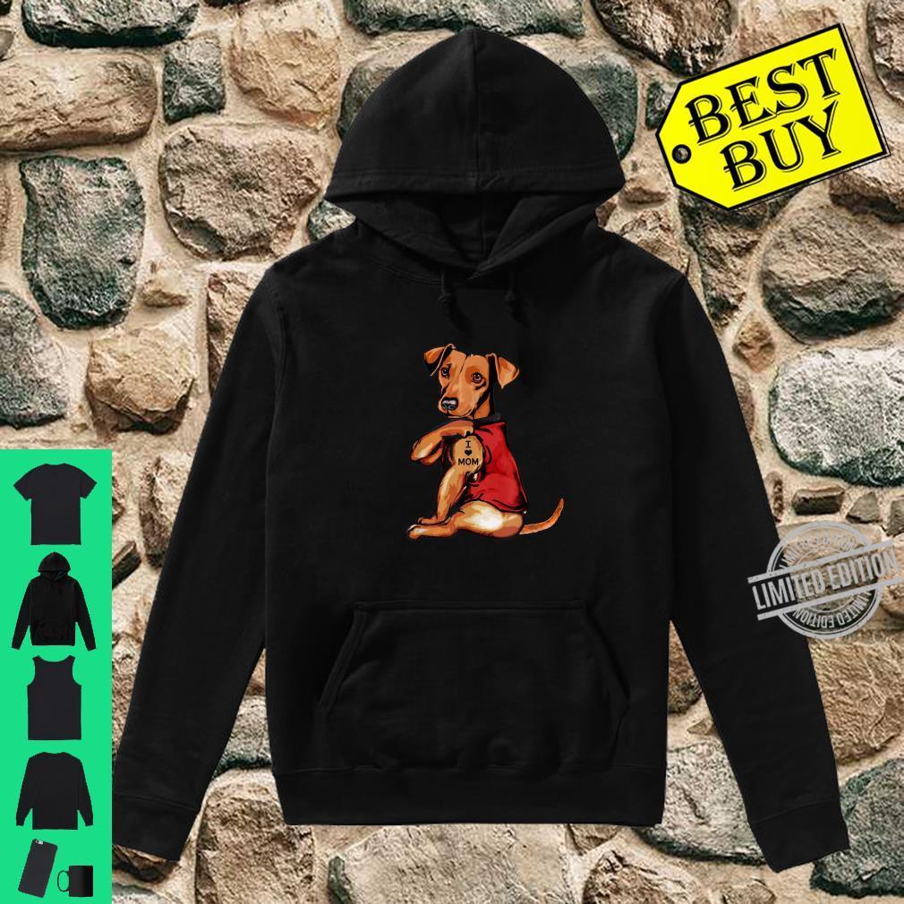 Dachshund I Love Mom Dogs Shirt hoodie