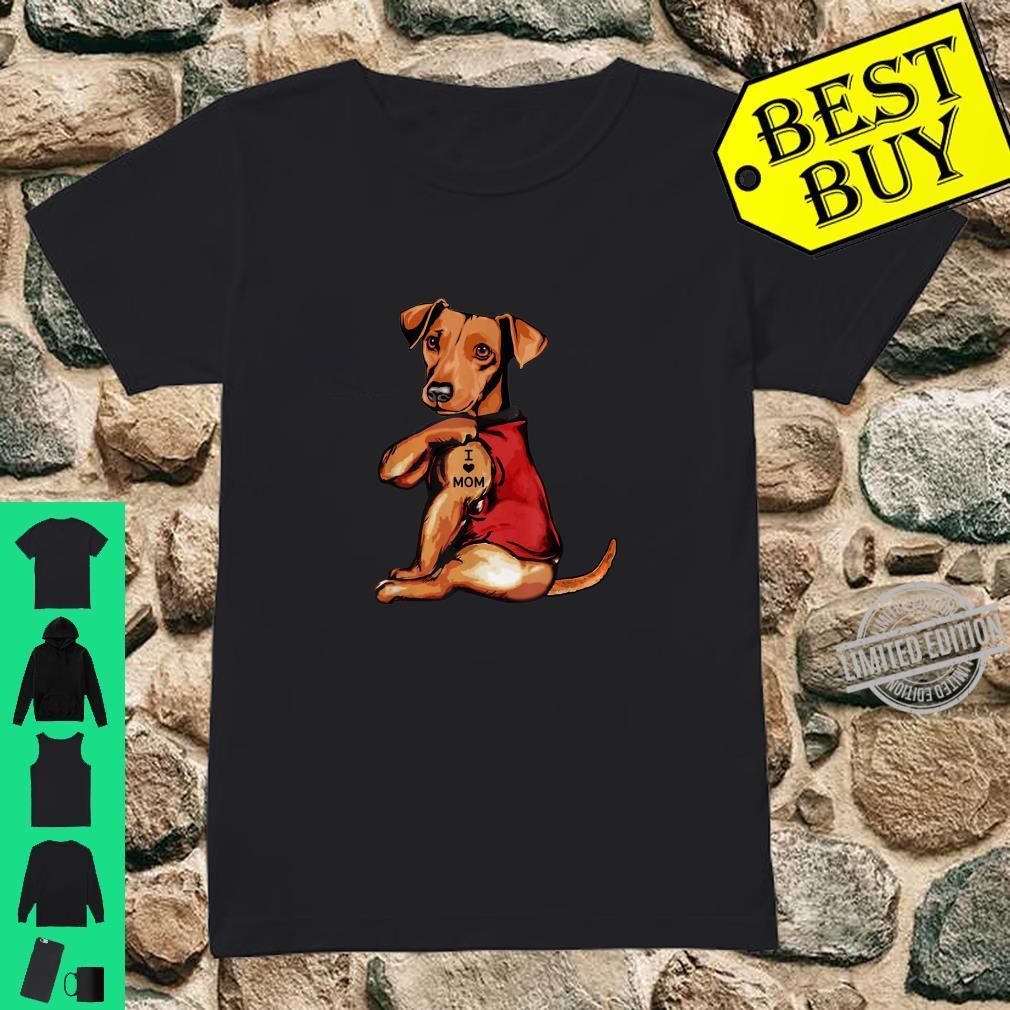 Dachshund I Love Mom Dogs Shirt ladies tee