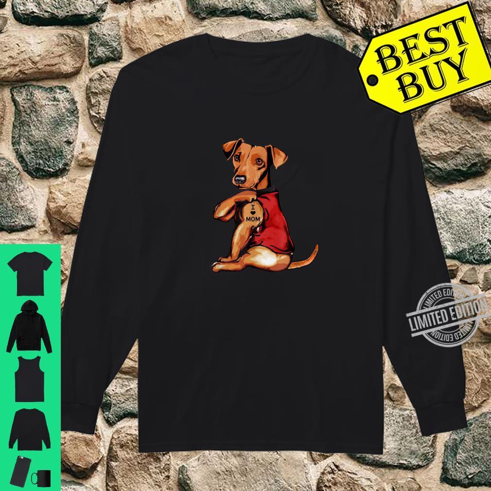 Dachshund I Love Mom Dogs Shirt long sleeved