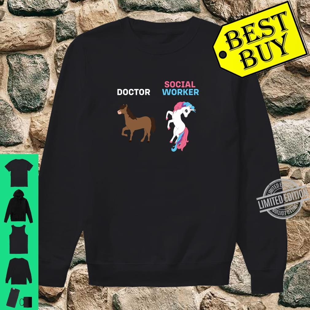 Doctor Social Worker Magical Unicorn Nurse Fantasy Rainbow Shirt sweater