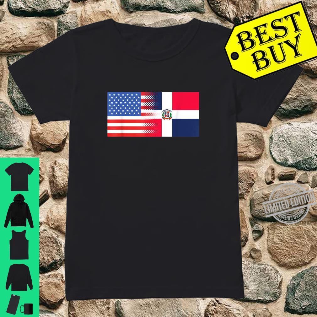 Dominican American Flag Half Dominican Half American Shirt ladies tee