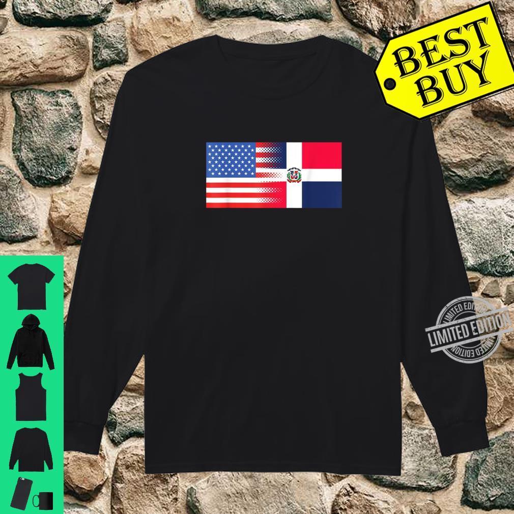 Dominican American Flag Half Dominican Half American Shirt long sleeved