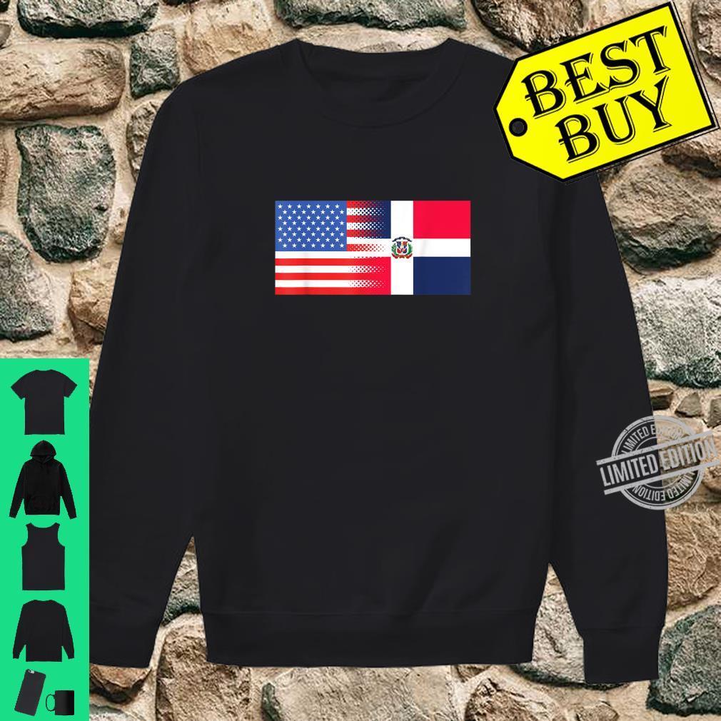 Dominican American Flag Half Dominican Half American Shirt sweater