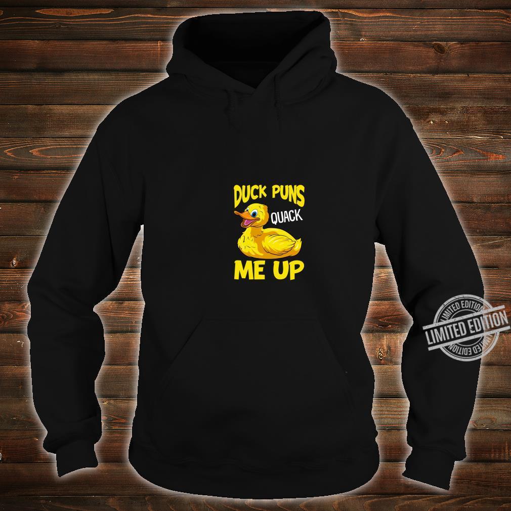 Duck Puns Quack Me Up Adorable Duckling Pun You Crack Me Up Shirt hoodie