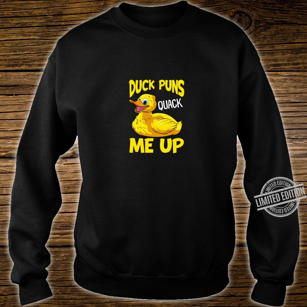 Duck Puns Quack Me Up Adorable Duckling Pun You Crack Me Up Shirt sweater