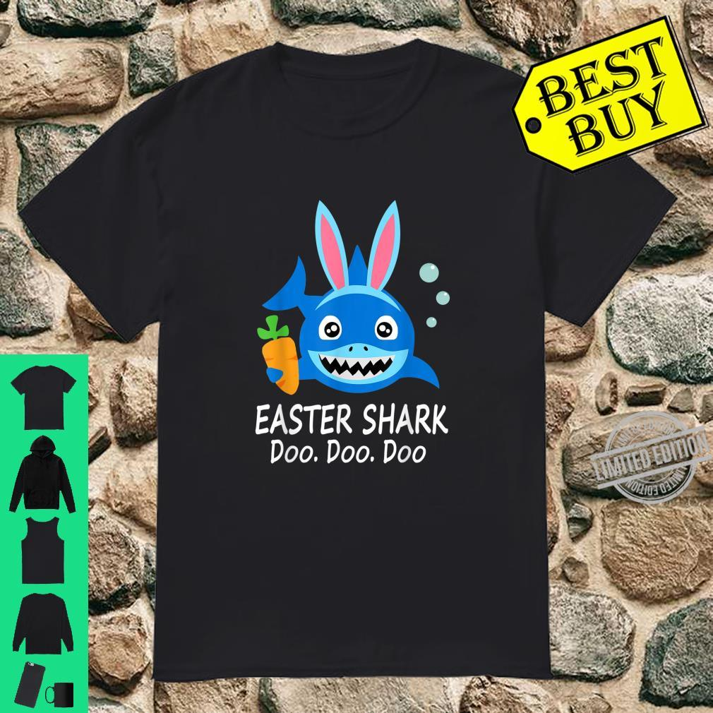 Easter Shark With Bunny Ear Egg Hunting Easter Shirt