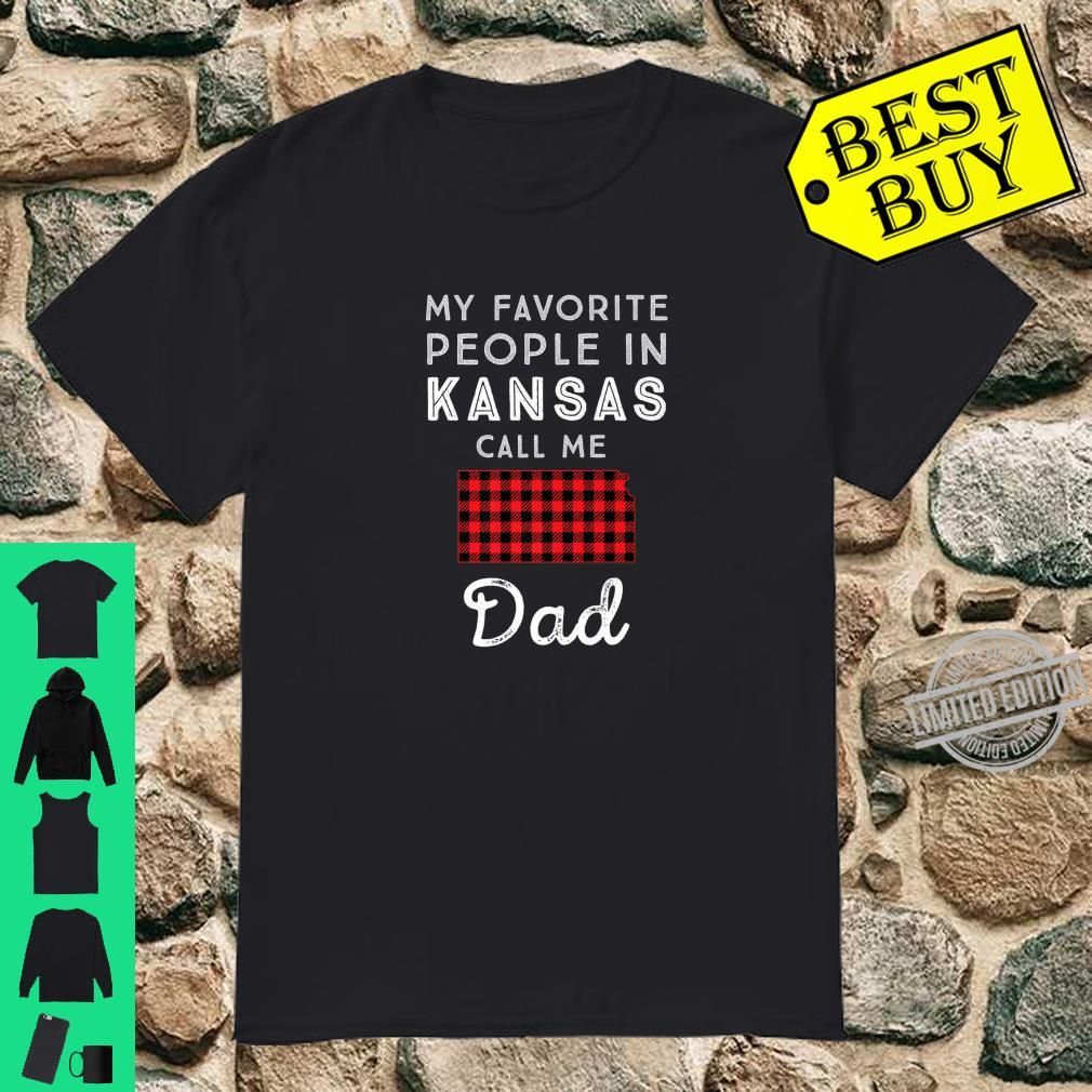 Family Matching My Favorite Dad Father Red Plaid Kansas Shirt