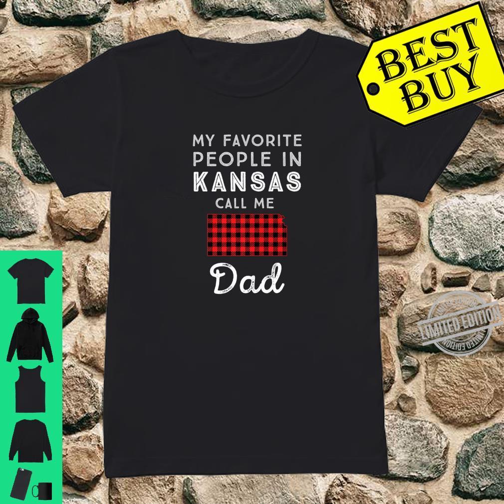 Family Matching My Favorite Dad Father Red Plaid Kansas Shirt ladies tee