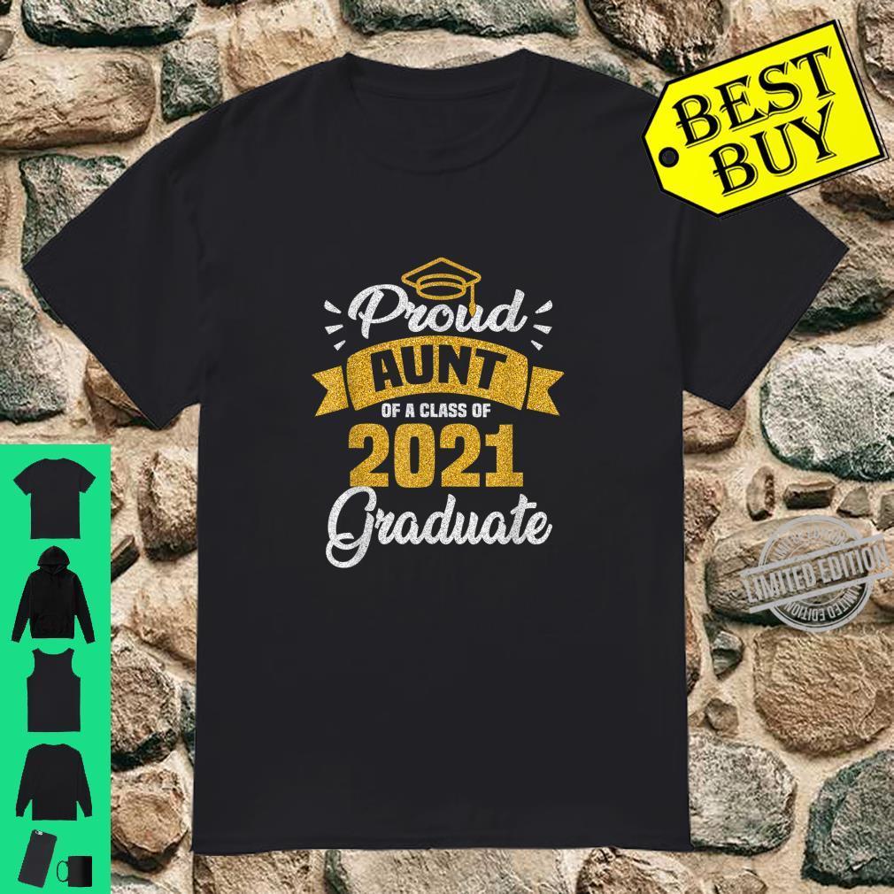 Funny Aunt Of A Class Of 2021 Graduation Summer Shirt