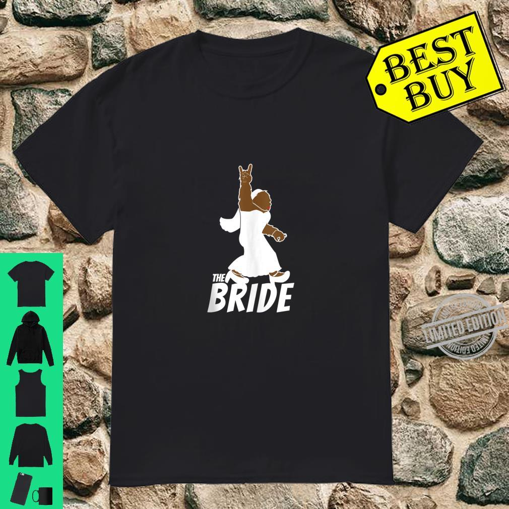 Funny Bigfoot Rock and Roll Wedding Party for Bride Shirt