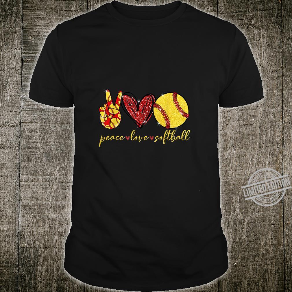 Funny Peace Love Softball Shirt