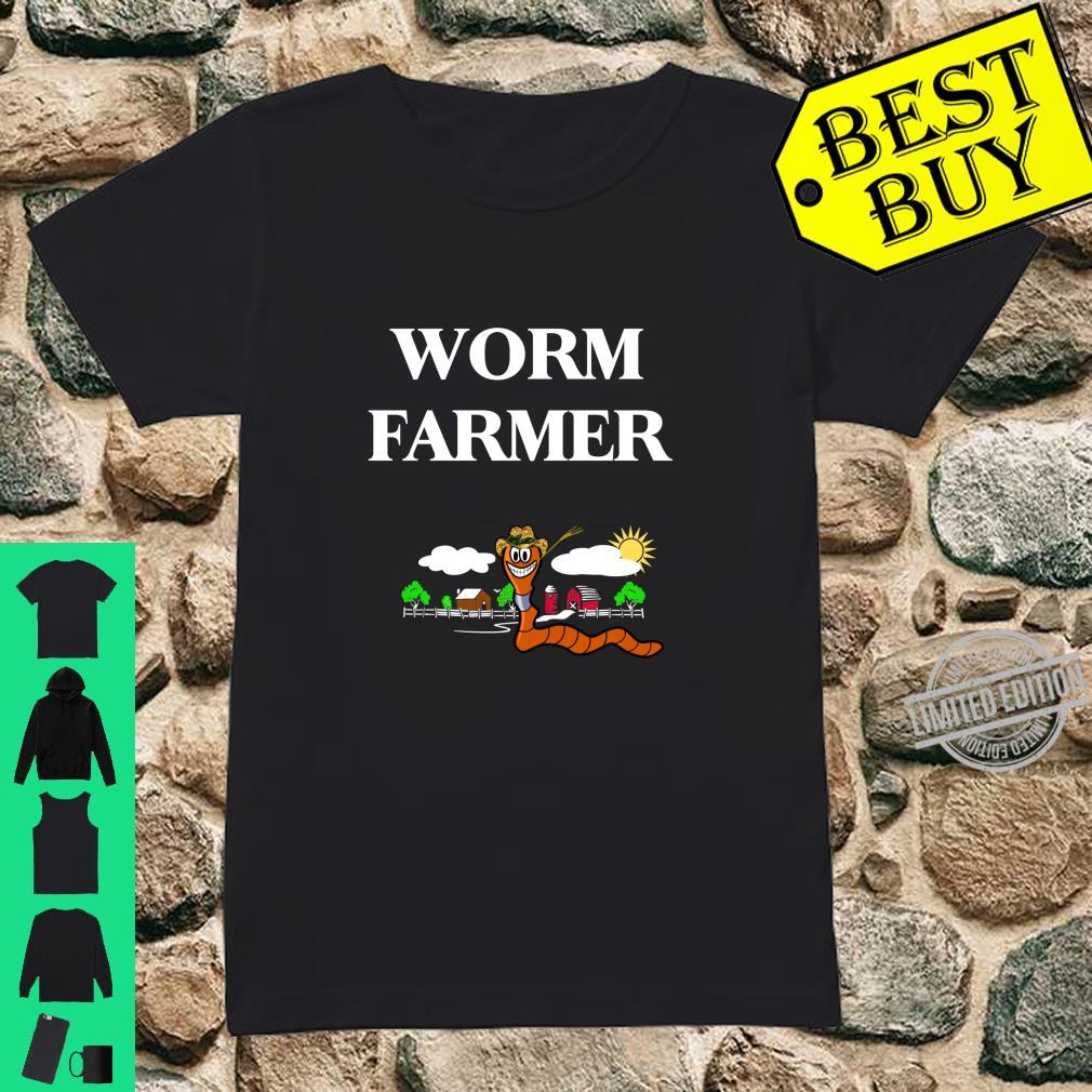 Funny Worm Farming Vermiculture Composting Shirt ladies tee