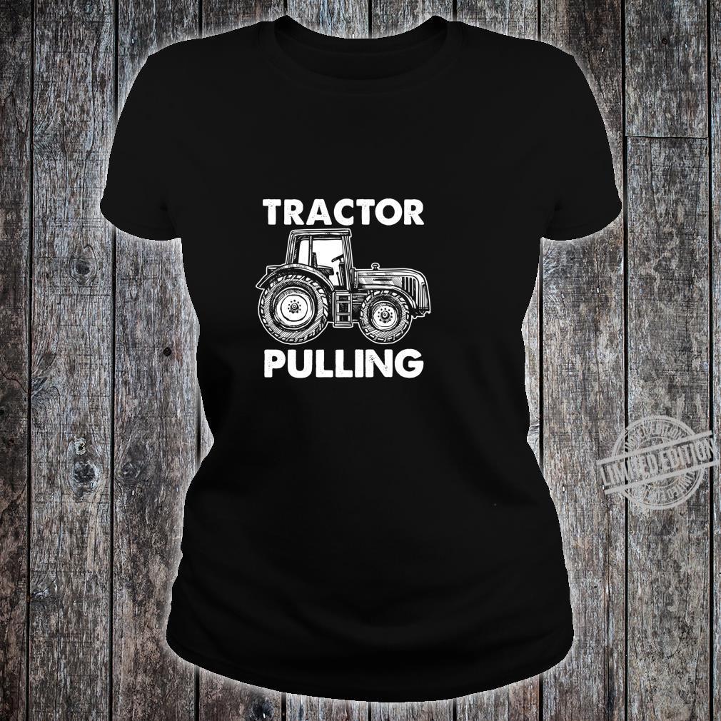 Gewerkschaft Arbeiter Fahrer Bauarbeiter Schlepper Ziehen Shirt ladies tee