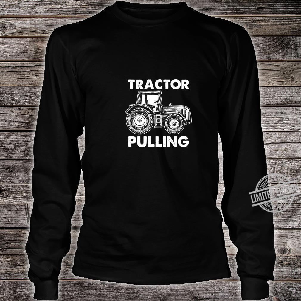 Gewerkschaft Arbeiter Fahrer Bauarbeiter Schlepper Ziehen Shirt long sleeved