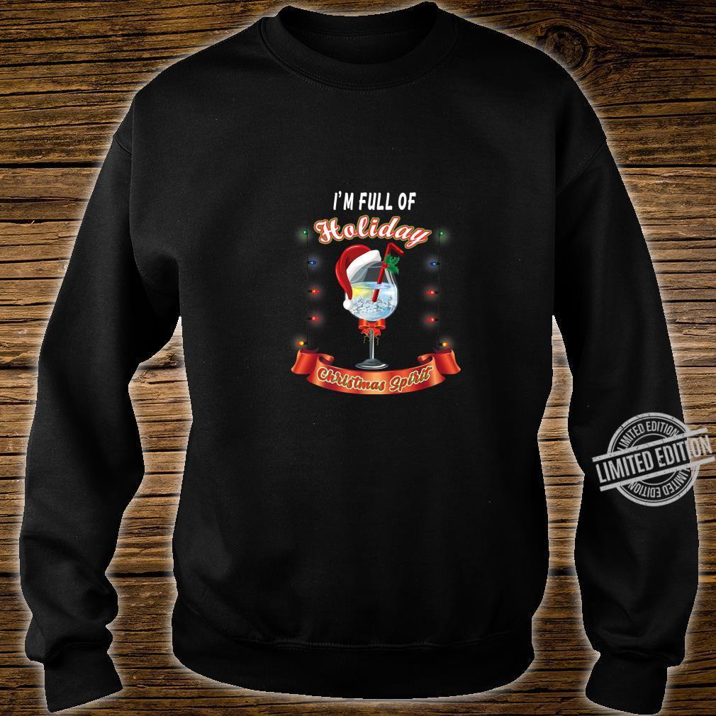 Gift for Wine Full of Holiday Christmas Spirit Shirt sweater