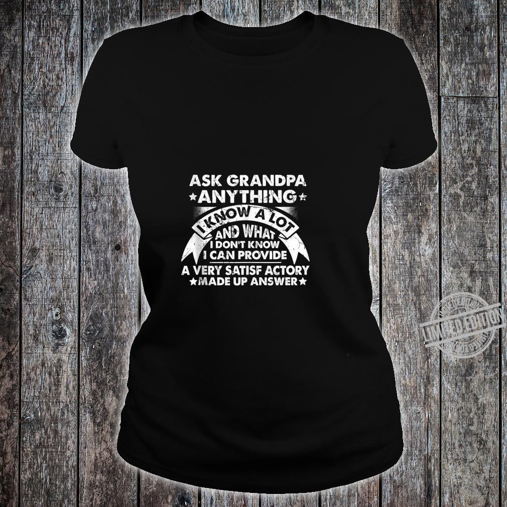 Grandpa Dad father in law husband birthday present Shirt ladies tee