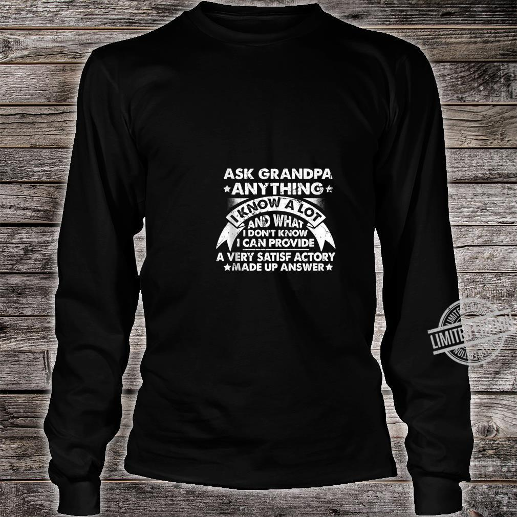 Grandpa Dad father in law husband birthday present Shirt long sleeved