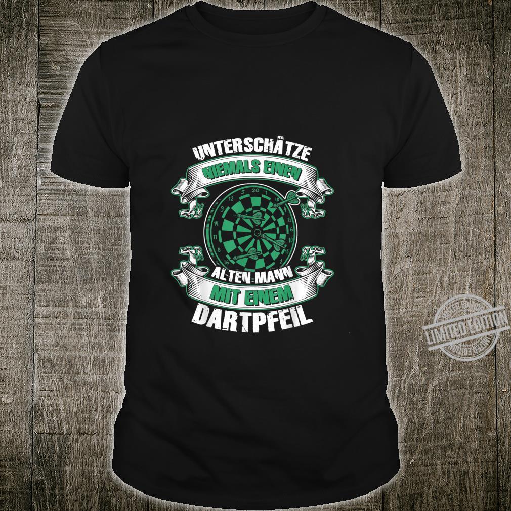 Herren Dartspieler Darts Dartpfeil Papa Opa Geburtstag Shirt
