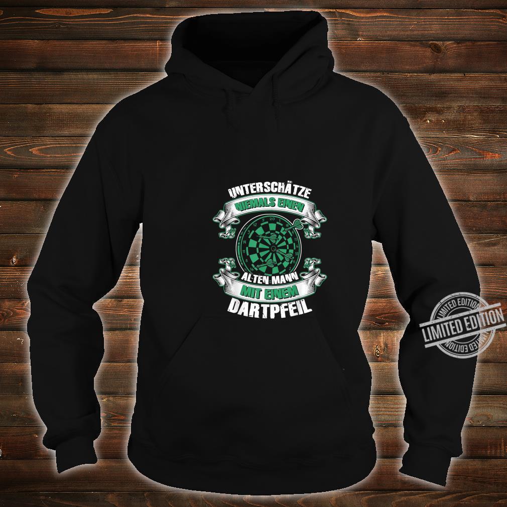 Herren Dartspieler Darts Dartpfeil Papa Opa Geburtstag Shirt hoodie