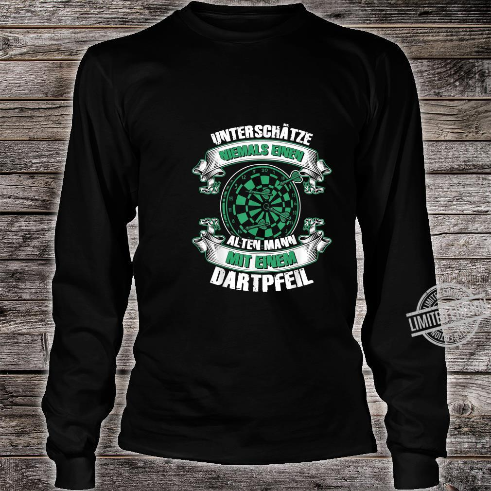 Herren Dartspieler Darts Dartpfeil Papa Opa Geburtstag Shirt long sleeved