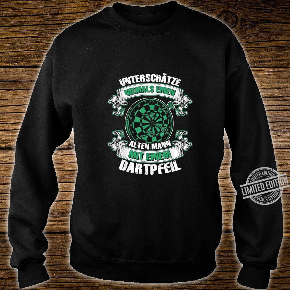 Herren Dartspieler Darts Dartpfeil Papa Opa Geburtstag Shirt sweater